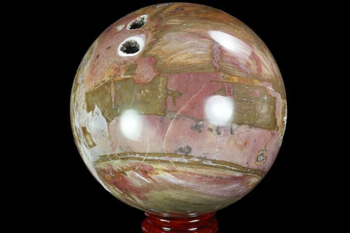"4.4"" Colorful, Petrified Wood Sphere - Madagascar"